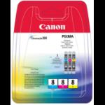 Canon CLI-8 C/M/Y Original Cian, Magenta, Amarillo 3 pieza(s)