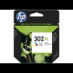 HP 302XL High Yield Tri-color Original Ink Cartridge Origineel Cyaan, Magenta, Geel 1 stuk(s)