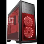GAMEMAX CASE, TITAN BLACK, RED FANS