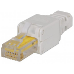 Intellinet RJ45 Modular Plug, Toolless Connector, Cat5/5e/6, 22-26 AWG solid and stranded UTP cables