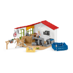 SCHLEICH Farm World Veterinarian Practice with Pets Toy Playset, 3 to 8 Years, Multi-colour (42502)