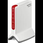 FRITZ! Box 6820 LTE International router inalámbrico Gigabit Ethernet Banda única (2,4 GHz) 3G 4G Rojo, Blanco