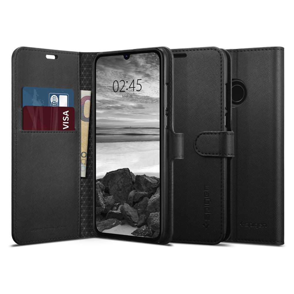 Spigen Wallet S mobiele telefoon behuizingen Folioblad Zwart
