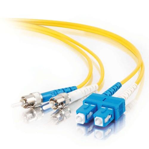 C2G 85580 fibre optic cable 5 m OFNR SC ST Yellow