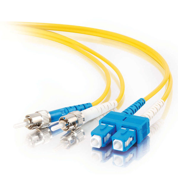 C2G 85580 fibre optic cable 5 m OFNR SC ST Yellow