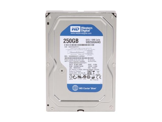 "Western Digital Caviar Blue 250GB 3.5"" Serial ATA II"