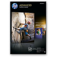 HP Advanced Glossy photo paper Black,Blue,White Gloss