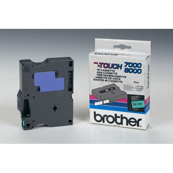 Brother TX-731 P-Touch Ribbon, 12mm x 15m