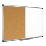 Bi-Office XA0302170 insert notice board Indoor White, Wood Aluminium