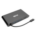 Tripp Lite USB-C Laptop Docking Station with mDP, HDMI, VGA, GbE, 4K @ 30Hz, Thunderbolt 3 - USB-A, PD Charging, Black