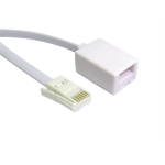 Cables Direct BT-003 telephone cable 3 m White