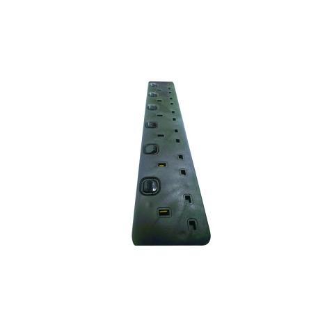 SMJ S6WI2C 2m Black surge protector