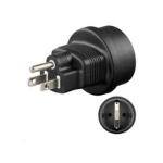 Microconnect PETRAVEL3 Type F Black power plug adapter
