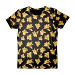 Pokémon Adult Male Pikachu All-Over Print T-Shirt, Large, Black (TS120308POK-L)