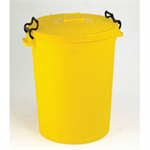 VFM DUSTBIN 110L WITH LID YELLOW 382069069