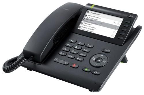 Unify OpenScape Desk Phone CP600E IP phone Black TFT