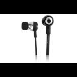 Acteck AE-260 3,5 mm Biauricular Dentro de oído Negro auricular con micrófono