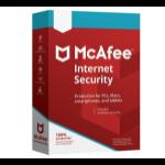 McAfee Internet Security Licencia básica 3 licencia(s) 1 año(s)