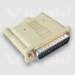 Videk SCSI Terminator DB25M Active White SCSI cable