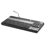 HP USB POS Keyboard with Magnetic Stripe Reader USB QWERTY Black keyboard