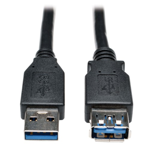 Tripp Lite USB 3.0 SuperSpeed Extension Cable - USB-A to USB-A, M/F, Black, 0.91 m