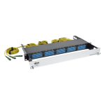 Tripp Lite 8.3/125 Breakout Fiber Patch Panel, 40 GB to 10 GB, 15 MTP QSFP to 60 LC Duplex Singlemode Ports, 1U patch panel