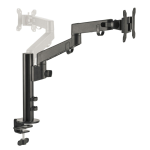 """Siig CE-MT3D11-S1 monitor mount / stand 30"""" Clamp/Bolt-through Black"""