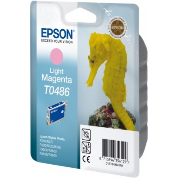 Epson C13T04864010 (T0486) Ink cartridge bright magenta, 400 pages @ 5% coverage, 13ml