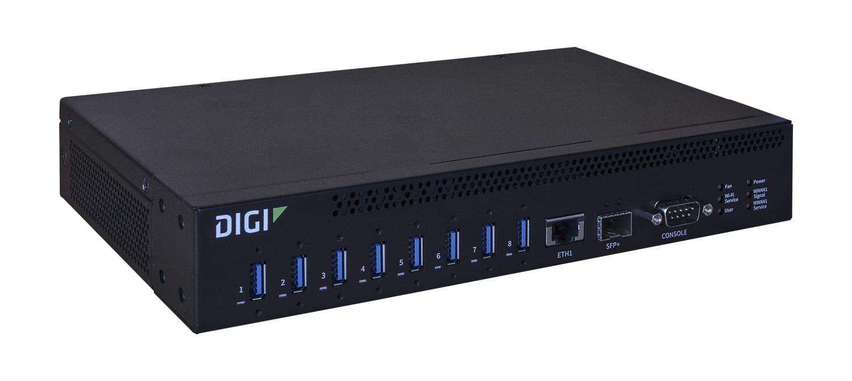 Digi AW08-G300 interface hub USB 3.0 (3.1 Gen 1) Type-A 10000 Mbit/s Zwart