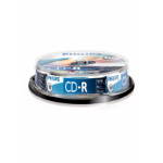 Philips CD-R Recordable 52X 10PK Spindle