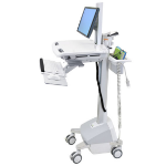 Ergotron StyleView EMR Cart with LCD Pivot, LiFe Powered, EU Flat panel Multimedia cart Aluminium,Grey,White
