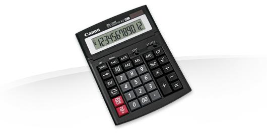 Canon WS-1210T calculadora Escritorio Pantalla de calculadora Negro
