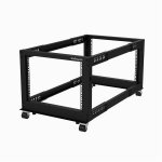 StarTech.com 8U Open Frame Rack - 4 Post - Adjustable Depth