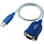Videk 2499G-4 0.65m USB VGA (D-Sub) Blue,Transparent serial cable