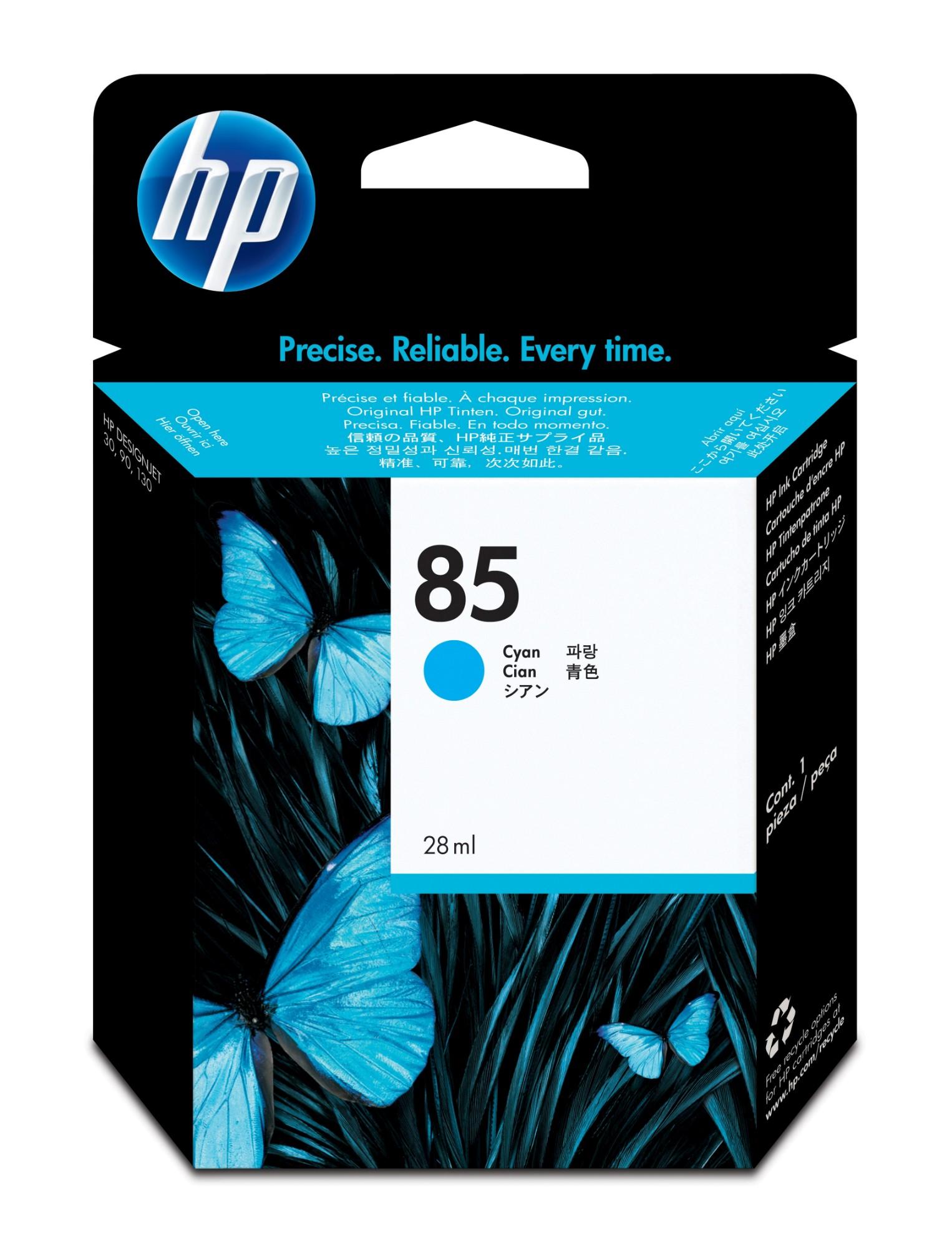 HP 85 Origineel Cyaan
