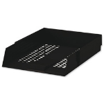 Deflecto CP043YTBLK Polystyrene Black desk tray