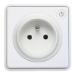 Lightwave L41 toma de corriente Tipo E Blanco