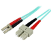 StarTech.com Cable Patch de Fibra LSZH Duplex Multimodo Aqua 50/125 10 Gb 2m LC - SC