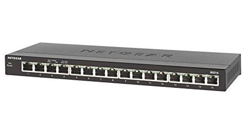 Netgear GS316 Unmanaged Gigabit Ethernet (10/100/1000) Black