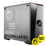 Gorilla Gaming Lite v1 Signature Edition - Ryzen 3 2200G 3.5GHz, 8GB RAM, 240GB SSD, AMD Vega Graphics
