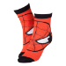 Marvel Spider-Man Men's Red Mask Close-up Crew Socks, 43/46, Red/Black (CR115907SPN-43/46)