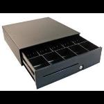 APG Cash Drawer 100 Slide-Out Cash Drawer_ 8C5N, Black, 406 x 424 x 125, Ethernet Interface w alarm, M1 Till, Multi