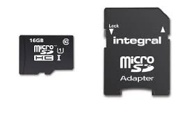 Integral 16GB MICRO SD CARD MICROSDHC CL10 UHS 1 90 MB/S + ADAPTER SMARTPHONE & TABLET