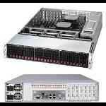 Supermicro SuperServer 6028R-E1CR12N Intel® C612 LGA 2011 (Socket R) Rack (2U) Black