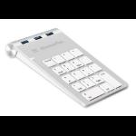 XtremeMac XM-NPHUB33-SLV numeric keypad USB Notebook Silver, White