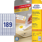 Avery White Removable Mini Labels