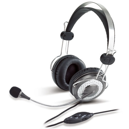 Genius HS-04SU Binaural Head-band Silver headset