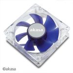 Akasa 8cm Silent blue colour fan