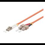 Microconnect 2m LC-SC UPC LSZH fiber optic cable OM2 Orange