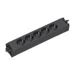 Bachmann 336.626 5AC outlet(s) Black power extension
